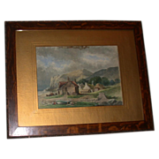REDUCED Original 19th Century Watercolor by Mylne -  Signed and dated, 1886