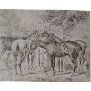 REDUCED Original late 19th Century Drawing by Well-Listed Artist, John Sturgess