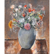 """REDUCED Sidney Laufman, Well-Listed Florida Artist  - Original Oil Painting - """"Bouquet Of"""