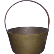 REDUCED Antique Brass Pail, 19th Century, England