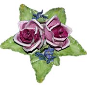 REDUCED Forever Roses For The One You Love!   Beautiful Porcelain Floral Display -