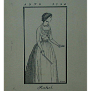 "REDUCED Original Ink Drawing  ""Rahel Varnhagen"" by Erich M. Simon,  1910"