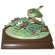 REDUCED Royal Worcester - Ruby-Crowned Kinglet, Closed Limited Edition of Only 150, Modeled by