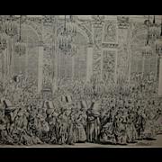 "REDUCED Fabulous Charles-Nicolas Cochin Le Fils ""Decoration Du Bal Masque"" - 18th Ce"