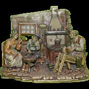 """REDUCED Borsato - """"The Wooden Shoe Maker"""" - Rare Multi-Figural Diorama -"""