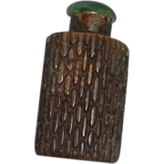 REDUCED Unusual Antique Snuff Bottle - Soapstone With Corncob Pattern, c. 1900