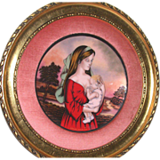 REDUCED Magnificent Huge 1975 Mother's Day Enamel On Copper - Signed/Numbered Limited Edition