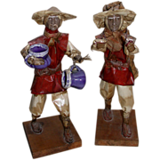 REDUCED Unusual Vintage Pair of Chinese Working Men Figures