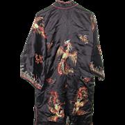 REDUCED Magnificent Ceremonial Silk Robe, C. 1940, Elaborate  Adornment