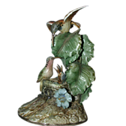 "REDUCED Borsato ""Hummingbirds"" - Large Multi-Figural Incredibly Detailed Porcelain S"