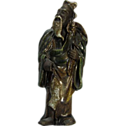 REDUCED Rare Antique Chinese Family Altar Figure As Fisherman, Circa 1900