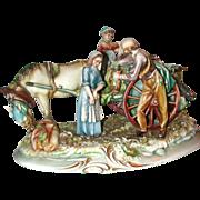 "REDUCED Borsato - Multi-Figural Porcelain Sculpture - ""The Wine Vendor"""