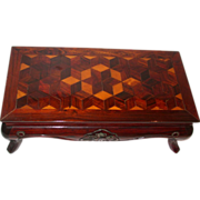 Exquisite Vintage Marquetry Inlay Wood Stand
