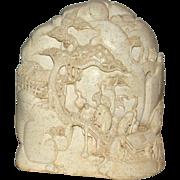 SOLD Impressive Well-Carved Chinese Hardstone Boulder, Vintage or Older