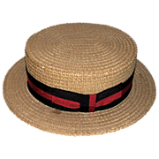 REDUCED LARRY HAGMAN'S ESTATE - George M. Cohan Straw Boater Hat, Given By Joel Gray!