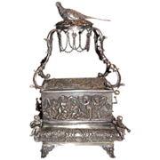 REDUCED Antique Sterling Silver Singing Bird Music Box, circa mid 1800s - Incredible!