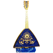 REDUCED Russian Antique 800 Gilt Silver And Lapiz Lazuli Balalaika,  Exquisite and Unusual ...