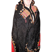 SOLD LARRY HAGMAN'S ESTATE - Colorful Moroccan Hooded Wool Robe - Red Tag Sale Item