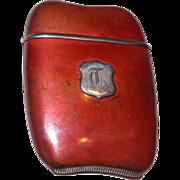 Foster & Bros. Copper and Silver Match Safe (Vesta). Circa 1910