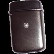 TIFFANY Patinated Silver, Gold And Diamond Match Safe (Vesta) C 1888