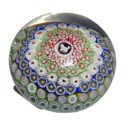 Unusual Superb  St. Louis Antique Dated Hound Silhouette And Concentric Millefiori Paperweight