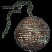 FRANK SINATRA  Caesar's Palace Medallion Invitation - c. 1968
