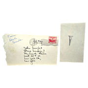 HENRY FONDA - Sketch Of A Nail, With Original Postmarked Envelope - Circa 1954