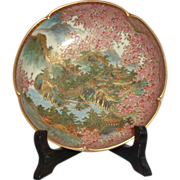 Antique Japanese Satsuma Chawan Bowl, Intricately and Beautifully Painted, C 1890s