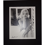 SOLD MARILYN MONROE - Photograph Taken By George Barris, c 1962, Signed - Red Tag Sale Item
