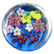 SOLD PAUL STANKARD - Multi-Floral Paperweight -  Artists Proof 1 - Circa 1976 - Signed/Dated
