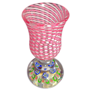 Antique Saint Louis Paperweight-based Miniature Vase (Or Penholder).