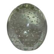SOLD Lovely Vintage Paperweight - Bubbles Make It Interesting!