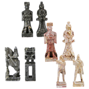 REDUCED Chinese Carved Soapstone Chess Set