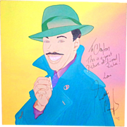 REDUCED EDDIE MURPHY - Large Signed Clayton Lefevre Painting (Signed by Eddie Murphy And The A