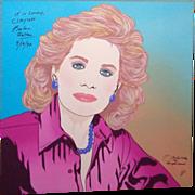 REDUCED BARBARA WALTERS - Signed Clayton Lefevre Portrait