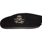REDUCED Larry Hagman's Bancroft (Military Cap) Beret With Skull Pin