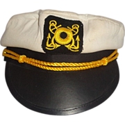 Larry Hagman Estate -  Sailor's Cap With Yellow Rope Decoration