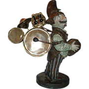 "REDUCED Charles Bragg (born 1931-) Sculpture ""Guthrie Dylan - One Man Band"" Signed,"