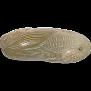 Celadon Jade Ear Of Corn Pendant