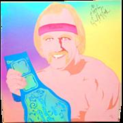Hulk Hogan Personally Signed Portrait By Clayton LeFevre (Part Of The 100 Club)