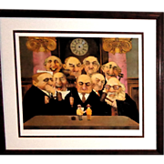 """SOLD CHARLES BRAGG """"May It Please The Court""""  Signed/Numbered Limited Edition Lithog"""