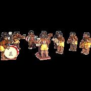SALE Rare Bergmann Vienna Bronze African Native TEN Member Band, Very Special