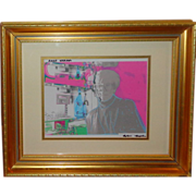 SOLD Andy Warhol Private Portrait, Mixed Media, By Robin Kaplan, Signed
