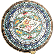 SALE Antique Italian Micro Mosaic Snuff or Trinket Box, Circa 1900