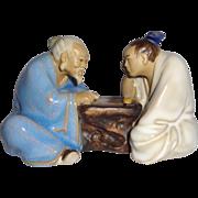 SALE Chinese Mudmen Sages Playing Wei-chi, Circa 1960s