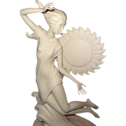 "SALE Original Laszlo Ispanky Large Porcelain Prototype Sculpture for ""Dawn"""