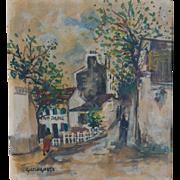 """SALE Giovanni Colognese (Italian b. 1901) """"Rue Des Saules, Monmartre"""""""