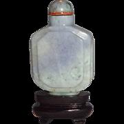 SALE Lavender Jadeite Snuff Bottle,  19th Century, Exquisite