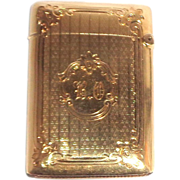 SALE Gorham 14K Gold Match Safe (Vesta), Circa 1910