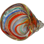 SALE Multi-Colored Crystal Conch Shell Paperweight, Gorgeous!